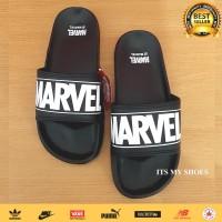 Sandal Slop Pria Wanita Marvel-Import-Hitam