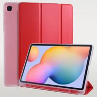 Flip Smart Cover Soft Case Softcase SAMSUNG Tab S6 Lite P615 P610 - Merah