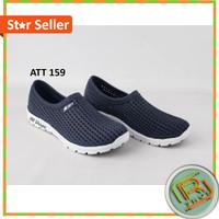Sepatu Pria cowok ATT 159 sepwtu karet sepatu pantopel