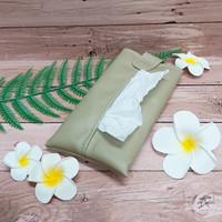 TECHNOZIO Tissue Bag/Tissue Organizer/Tempat Tissue Warna Mocca