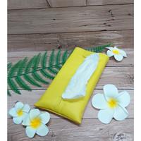 TECHNOZIO Tissue Bag/Tissue Organizer/Tempat Tissue Warna Kuning