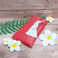 TECHNOZIO Tissue Bag/Tissue Organizer/Tempat Tissue Motif Urat Merah