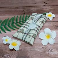 TECHNOZIO Tissue Bag/Tissue Organizer/Tempat Tissue Motif Garis Cream