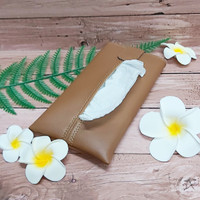 TECHNOZIO Tissue Bag/Tissue Organizer/Tempat Tissue Warna Caramel
