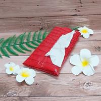 TECHNOZIO Tissue Bag/Tissue Organizer/Tempat Tissue Motif Cro Merah