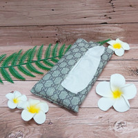 TECHNOZIO Tissue Bag/Tissue Organizer/Tempat Tissue Motif Gucci Mocca