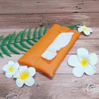 TECHNOZIO Tissue Bag/Tissue Organizer/Tempat Tissue Warna Orange