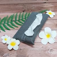TECHNOZIO Tissue Bag/Tissue Organizer/Tempat Tissue Motif Pari Abu