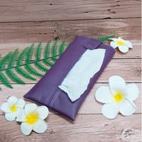 TECHNOZIO Tissue Bag/Tissue Organizer/Tempat Tissue Warna Ungu