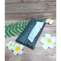 TECHNOZIO Tissue Bag/Tissue Organizer/Tempat Tissue Warna Abu Tua