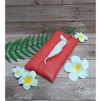 TECHNOZIO Tissue Bag/Tissue Organizer/Tempat Tissue Warna Merah