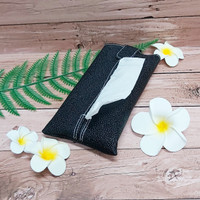 TECHNOZIO Tissue Bag/Tissue Organizer/Tempat Tissue Motif Pari Hitam