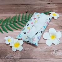 TECHNOZIO Tissue Bag/Tissue Organizer/Tempat Tissue Tulisan Putih