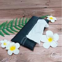 TECHNOZIO Tissue Bag/Tissue Organizer/Tempat Tissue Motif Urat Hitam