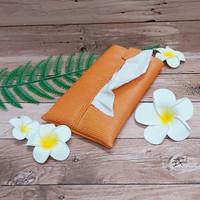 TECHNOZIO Tissue Bag/Tissue Organizer/Tempat Tissue Motif Urat Orange