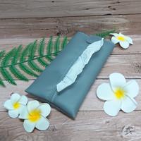 TECHNOZIO Tissue Bag/Tissue Organizer/Tempat Tissue Warna Abu-Abu