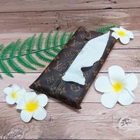TECHNOZIO Tissue Bag/Tissue Organizer/Tempat Tissue Tulisan Coklat