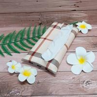 TECHNOZIO Tissue Bag/Tissue Organizer/Tempat Tissue Motif Garis Ivory