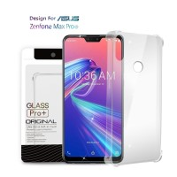Premium Soft Case Asus Zenfone Max Pro M2 Clear - Anti Crack Glass Pro