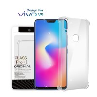 Premium Soft Case Vivo V9 Clear - Anti Crack Glass Pro