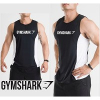 KNKR - GYMSHARK DATAR - Singlet Gym Fitnes pria Kaos Running Training
