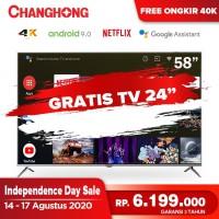 Changhong 58 Inch 4K UHD Android 9.0 Smart TV Netflix LED TV -U58H7A
