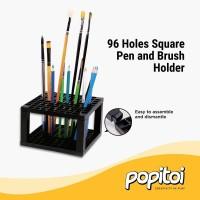96 Holes Square Pen & Brush Holder - Tempat Pulpen Kuas Desk Organizer