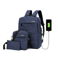 Buy 1 Get 3 Elfs Tas Ransel Anti Air USB Charger Waterproof Backpack