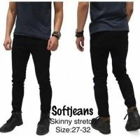 Celana Jeans Pria Slimfit/Skinny Hitam Premium - Size 27sd32 (Ecer)