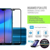 Huawei P20 Lite - 2.5D Full Cover Tempered Glass Protector