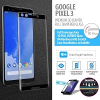 Google Pixel 3 - Premium 3D Curved Tempered Glass Protector