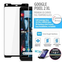 Google Pixel 2 XL - Premium 3D Curved Tempered Glass Protector