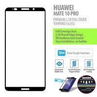 Huawei Mate 10 Pro - 2.5D Full Cover Tempered Glass Protector
