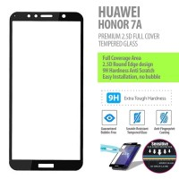 Huawei Honor 7A - 2.5D Full Cover Tempered Glass Protector