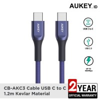 Aukey Cable CB-AKC3 USB-C to C 1.2m Kevlar Blue - 500417