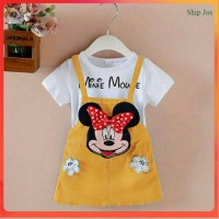 Jumpsuit anak perempuan MINIE MOUSE HAND Gold, Pink, Red - Kuning