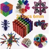 Color Magnetic Ball / Bola Magnet Warna Warni 6 mm 216 pcs Buckyballs