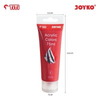 Acrylic Color Cat Akrilik Joyko TiTi ACC-75ML-4 Red Color Warna