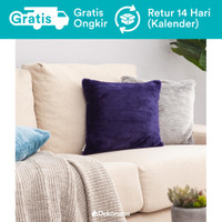 Dekoruma Rumi Sarung Bantal Sofa 40x40 Bulu Polos | Fur Cushion - Blue Purple