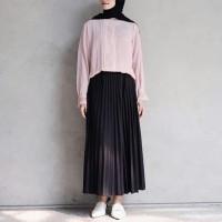 Rok Plisket Wanita l Rok Muslim l Fashion Remaja Termurah & Terlaris