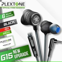 Plextone G15 Stereo Earphone Headset Microphone Wired Magnetic Gaming - Hijau