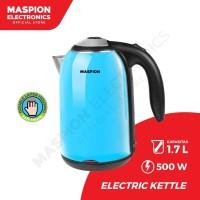 Maspion Electric Kettle MEK-1701PL Teko Listrik 1,7 Liter Warna Biru