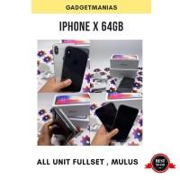 Iphone X (TEN) 64gb second ex inter fullset mulus