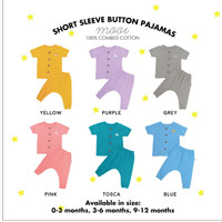 Setelan bayi short sleeve button pajamas Mooi