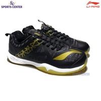 New Sepatu Badminton Lining Cloud Ace 6 / VI AYTQ055 Black Gold