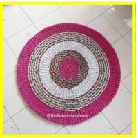 Rug mendong pink 120cm / Karpet Anyaman