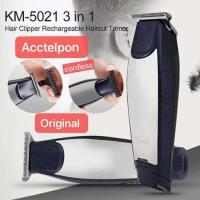 Original Kemei KM-5021 Alat Cukur Rambut Cordless Hair Clipper 3 in 1