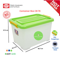 Shinpo - Container Box / Kotak Penyimpanan Real CB 70