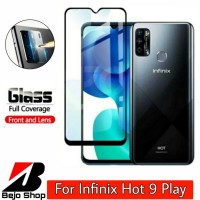 Tempered Glass Infinix Hot 9 Play Full Cover Bonus Lens Camera