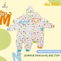 Blessing Babywear-baby jumper panjang rib topi-alphabet